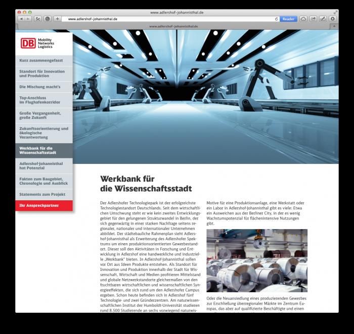abenteuerdesign for Deutsche Bahn | DB Adlershof-Johannisthal