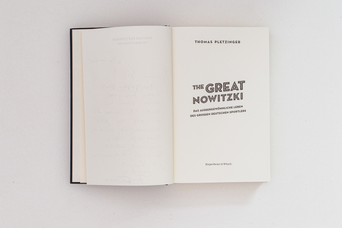 abenteuerdesign for Kiepenheuer & Witsch | The Great Nowitzki - Thomas Pletzinger