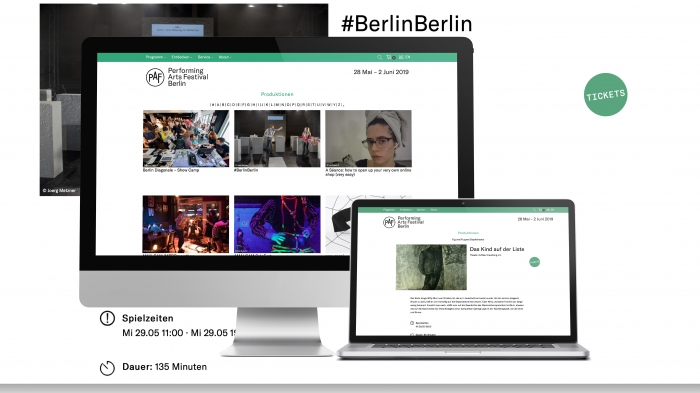 abenteuerdesign for Performing Arts Programm Berlin | Performing Arts Festival
